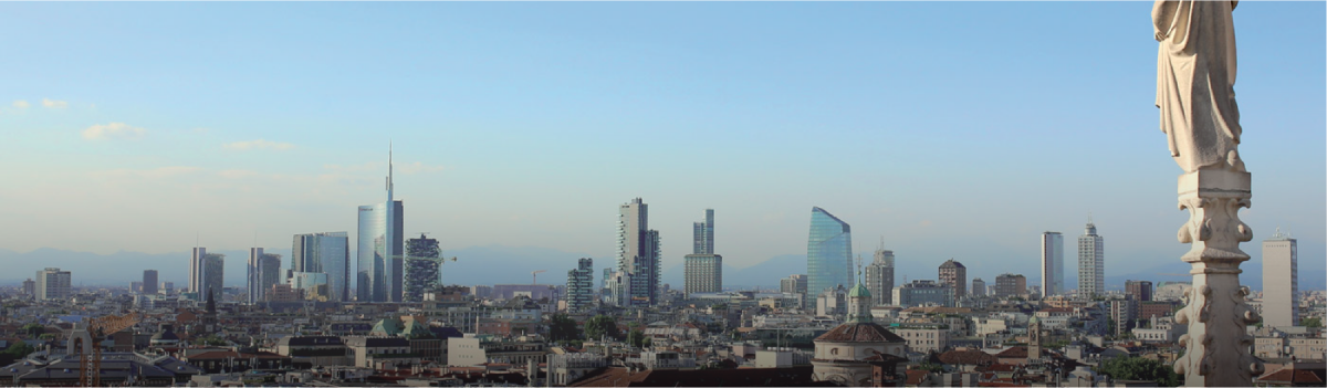 skyline of the city of Milan